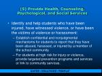 5 provide health counseling psychological and social services45