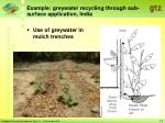 example greywater recycling through sub surface application india
