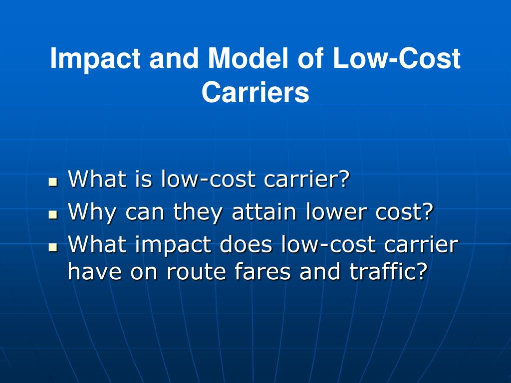 the impact of low cost carrier