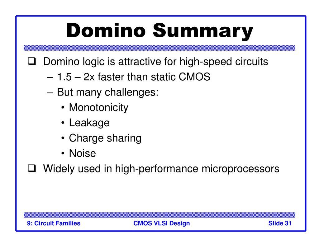 Domino Summary