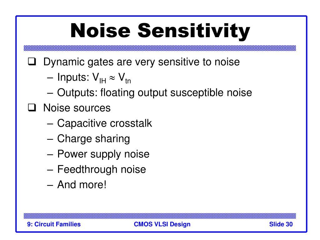 Noise Sensitivity