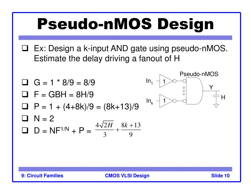 Pseudo-nMOS Design