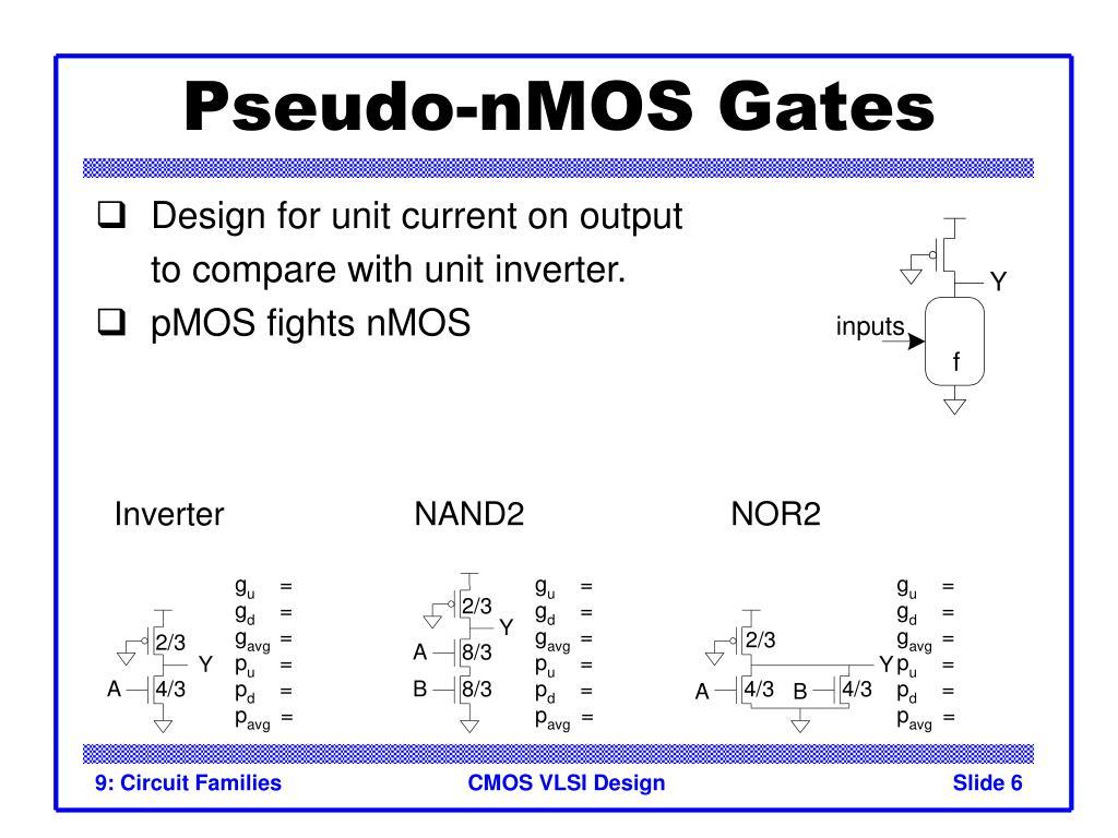 Pseudo-nMOS Gates