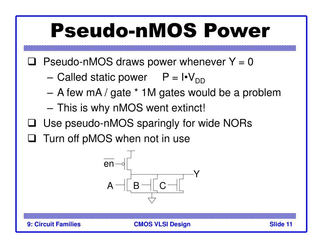 Pseudo-nMOS Power