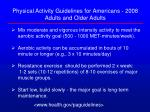 physical activity guidelines for americans 2008 adults and older adults26