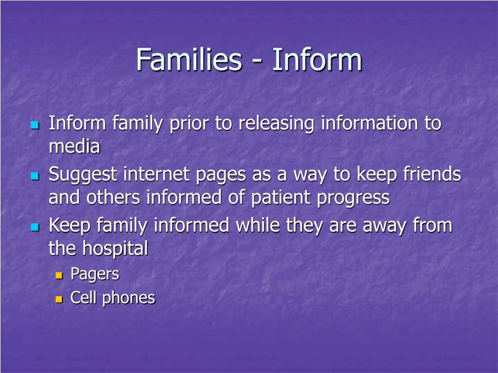 Families - Inform