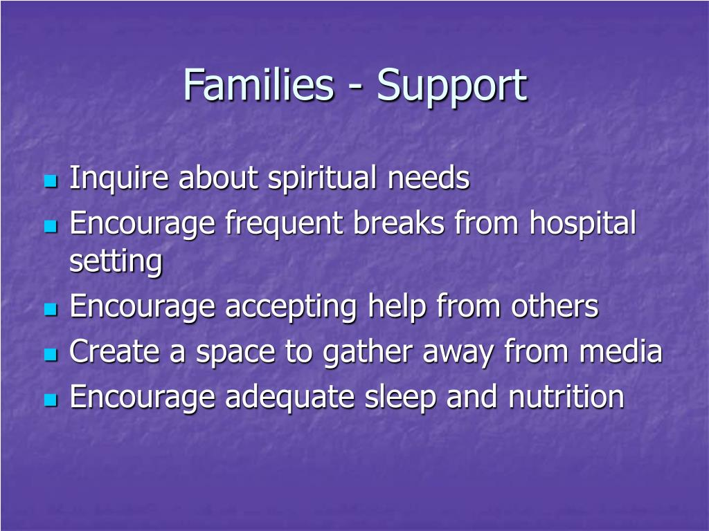 Families - Support