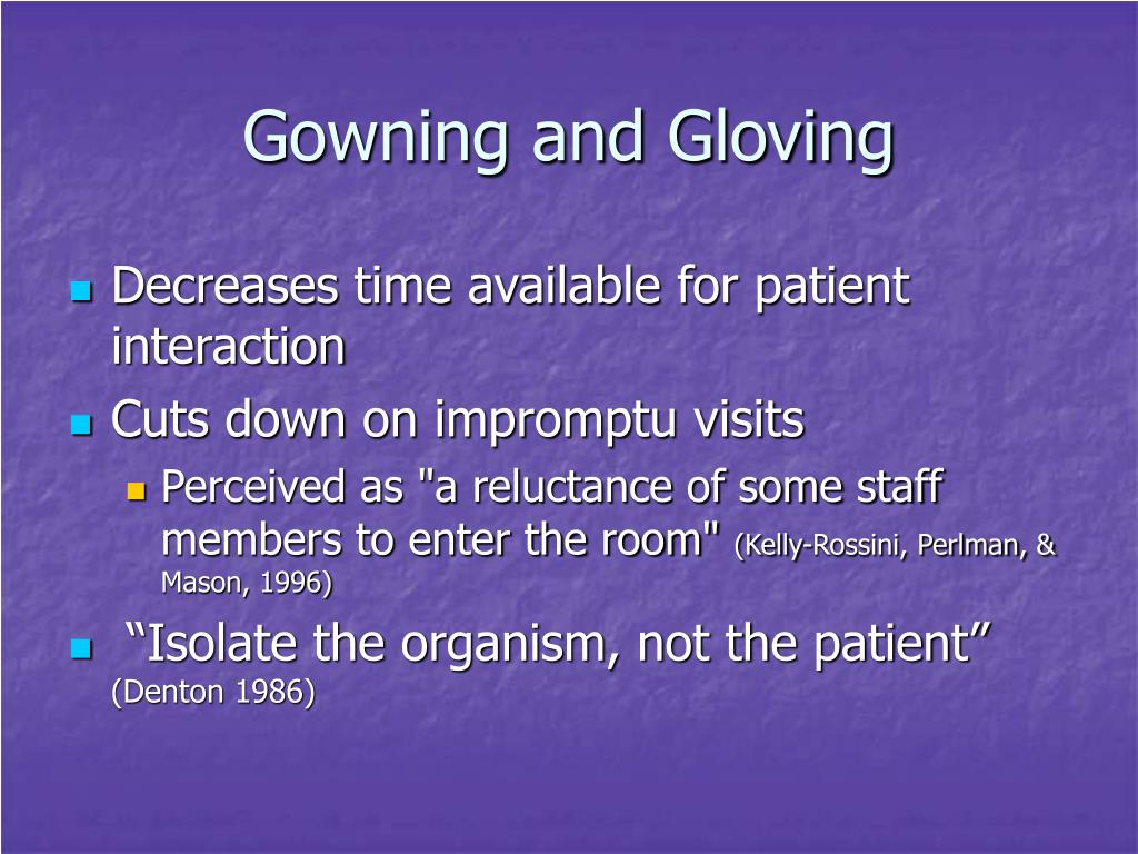 Gowning and Gloving