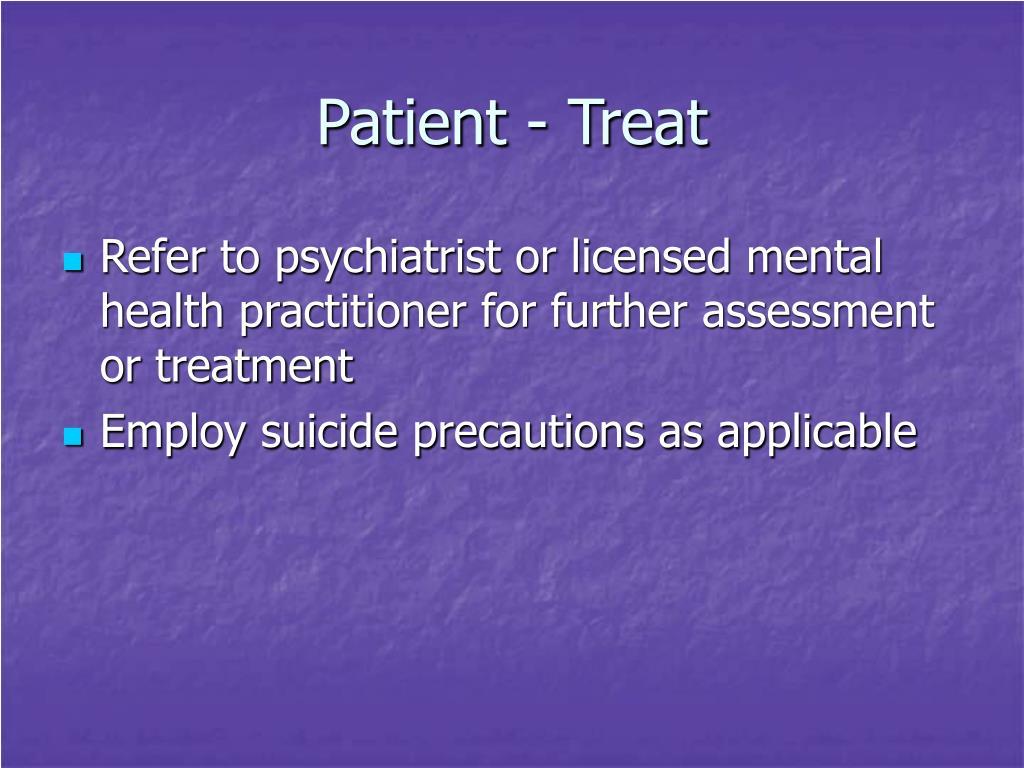 Patient - Treat