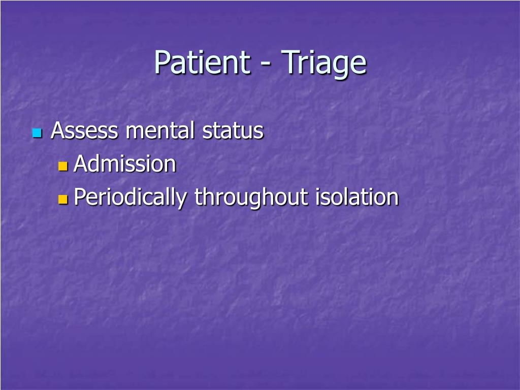 Patient - Triage