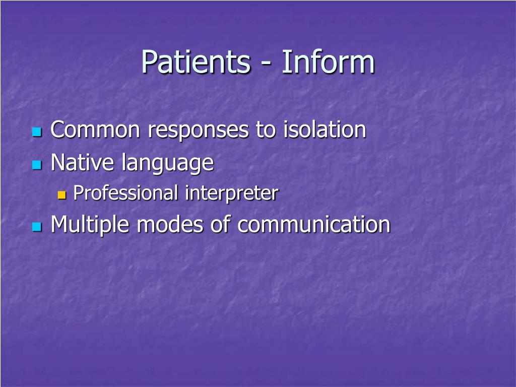 Patients - Inform