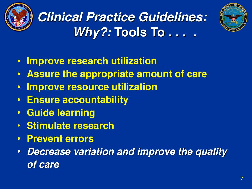 Clinical Practice Guidelines: