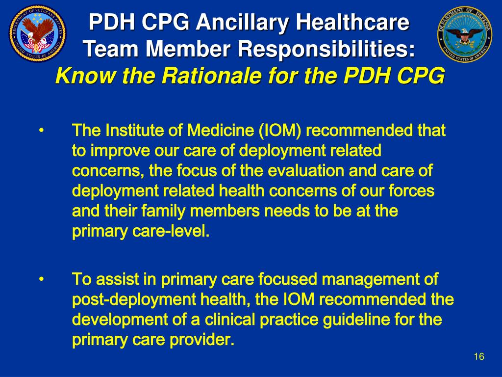 PDH CPG Ancillary Healthcare
