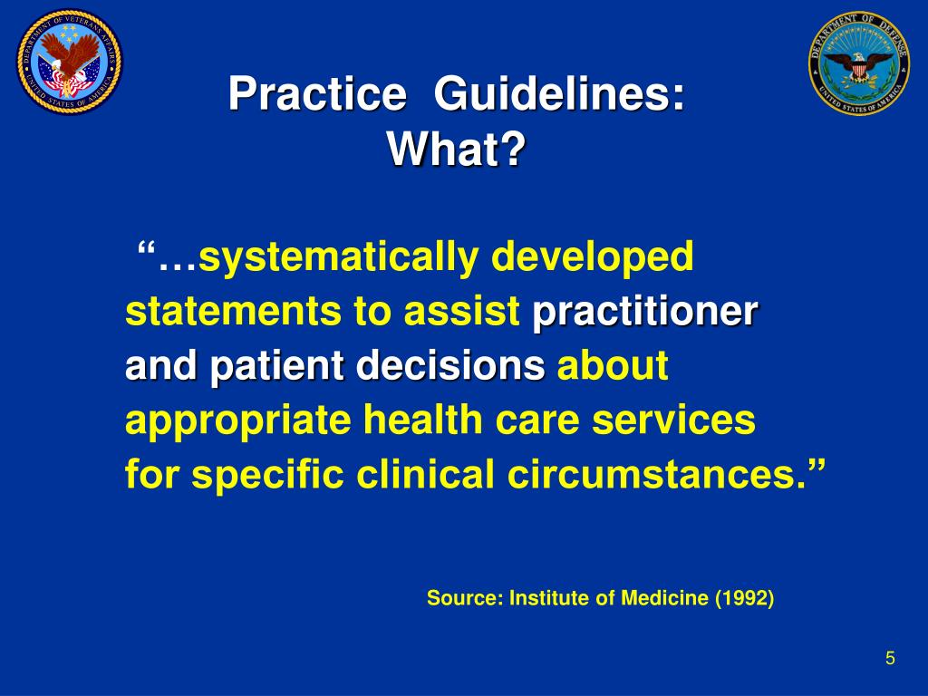 Practice  Guidelines: