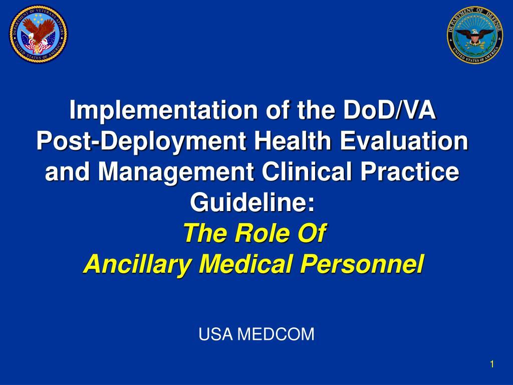Implementation of the DoD/VA