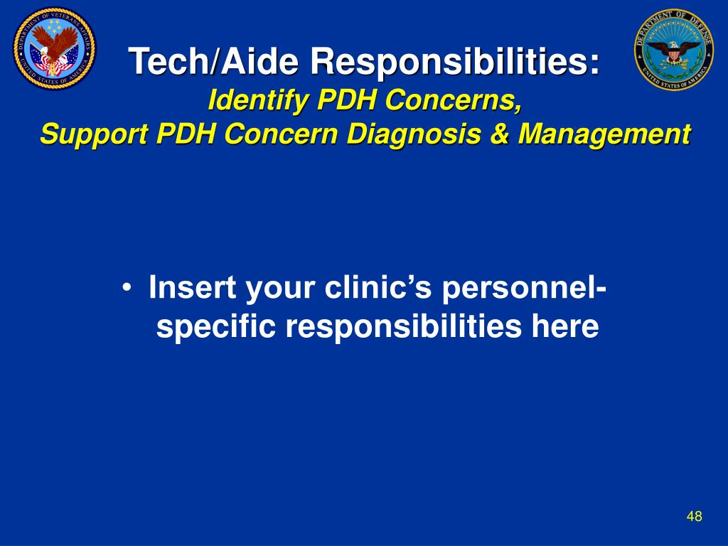 Tech/Aide Responsibilities: