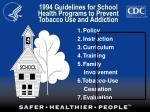 1994 guidelines for school health programs to prevent tobacco use and addiction