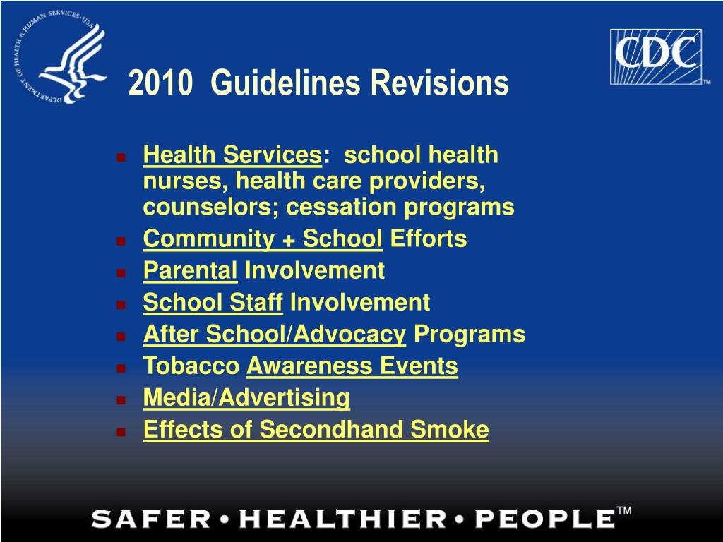 2010  Guidelines Revisions