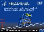 dissemination and diffusion d train
