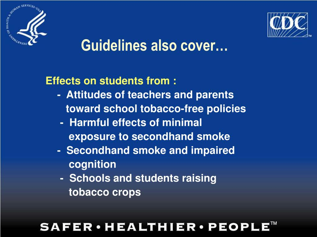Guidelines also cover…