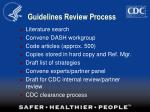 guidelines review process