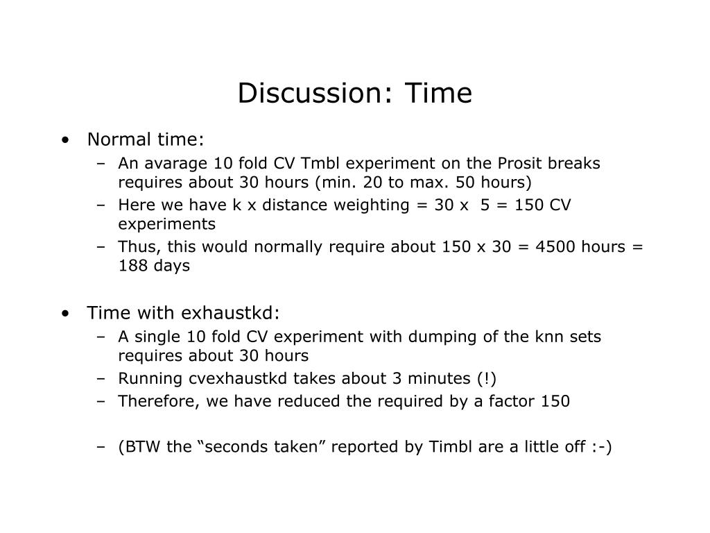 Discussion: Time