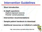 intervention guidelines9