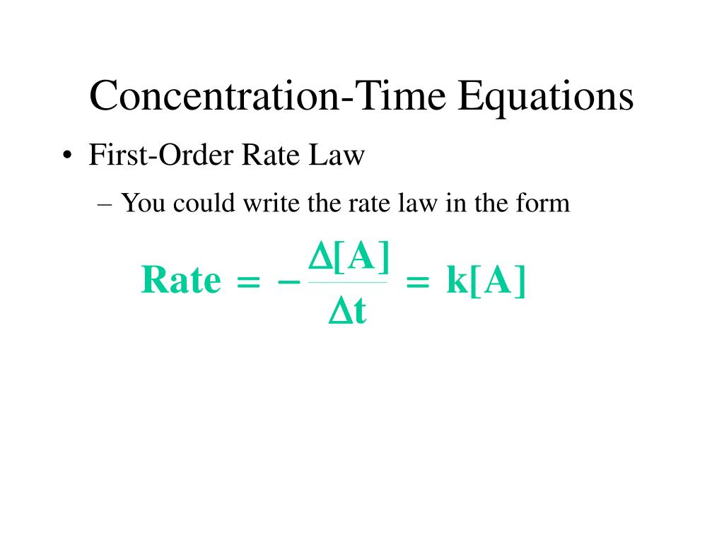You could write the rate law in the form