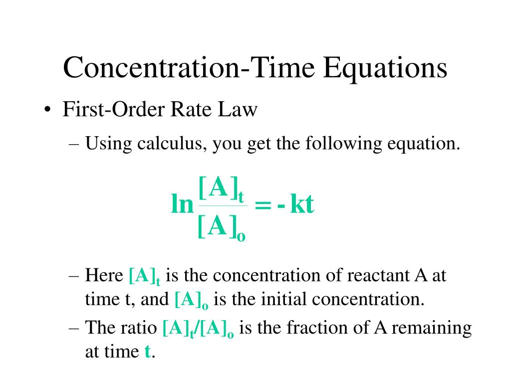 Concentration-Time Equations