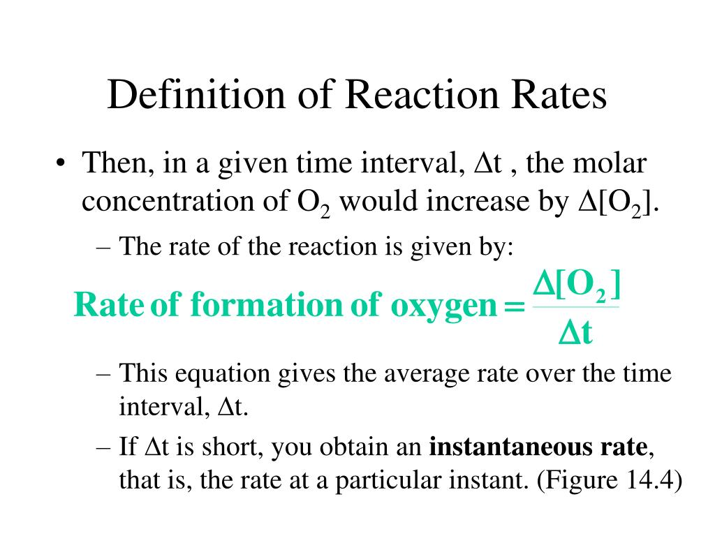 The rate of the reaction is given by: