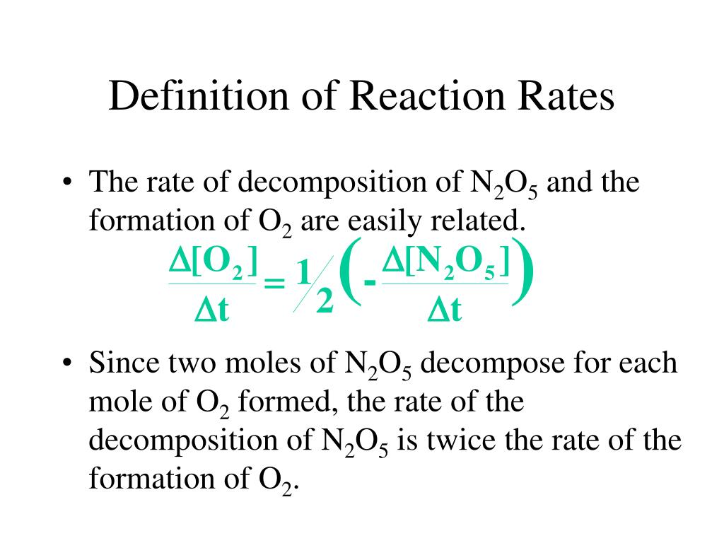 Definition of Reaction Rates