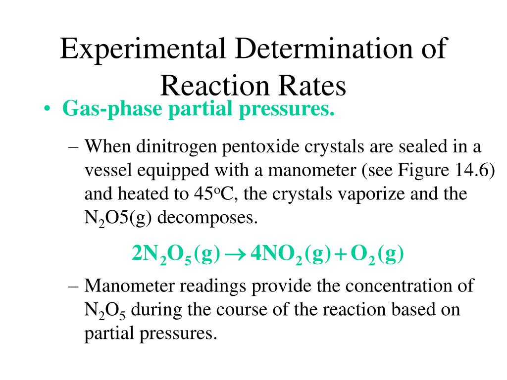 When dinitrogen pentoxide crystals are sealed in a vessel equipped with a manometer (see Figure 14.6) and heated to 45