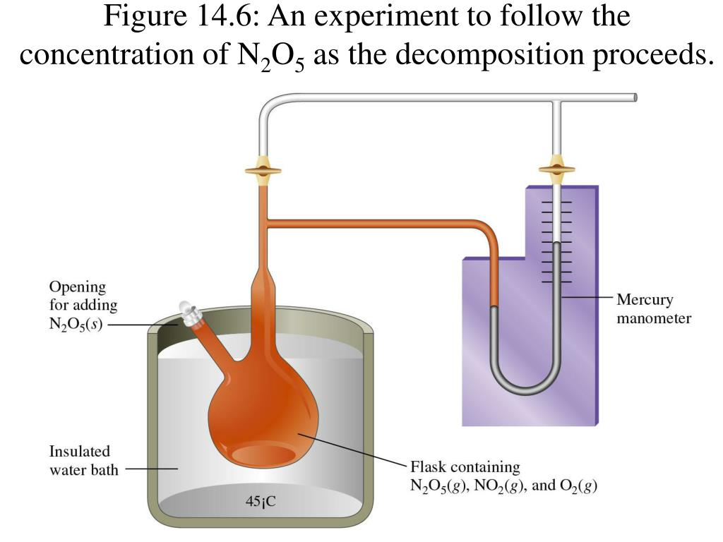 Figure 14.6: An experiment to follow the concentration of N