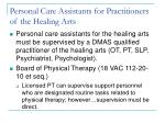 personal care assistants for practitioners of the healing arts8