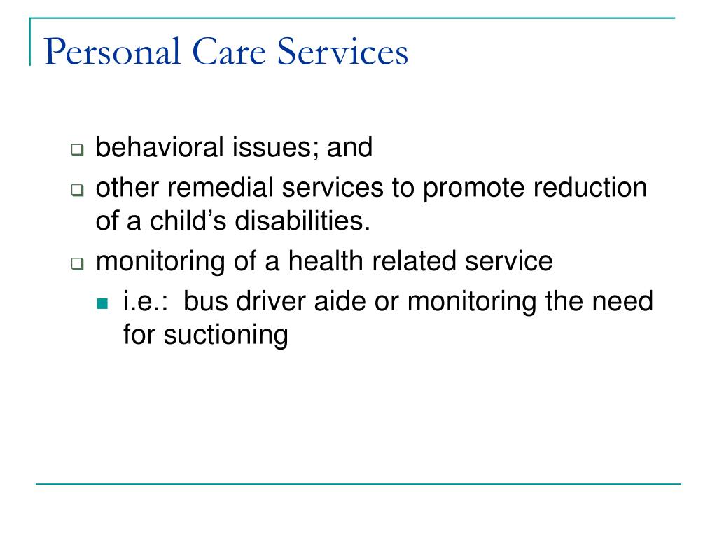 Personal Care Services