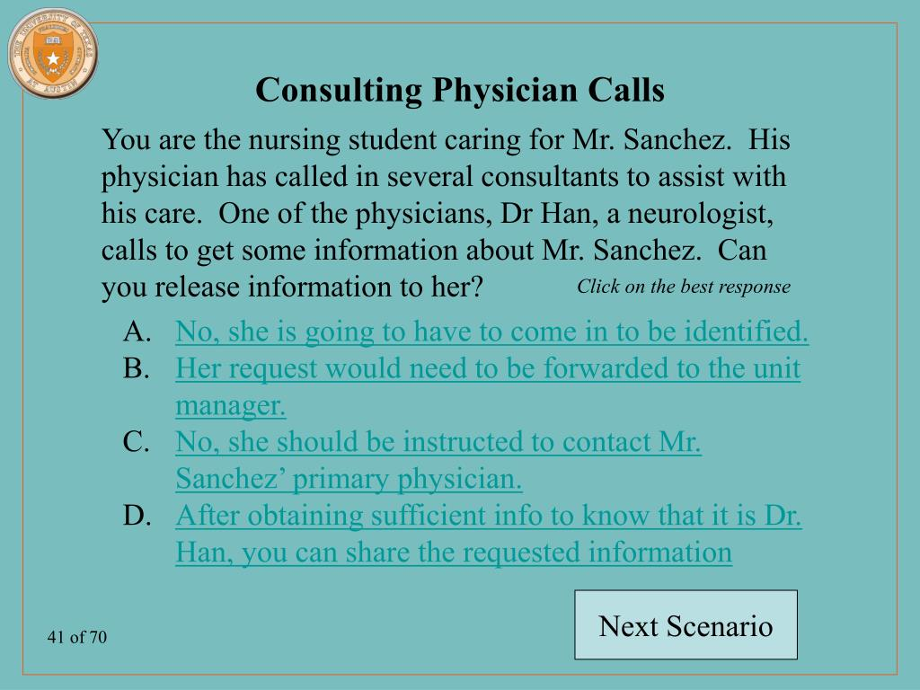 Consulting Physician Calls