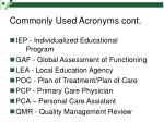 commonly used acronyms cont5