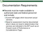 documentation requirements27