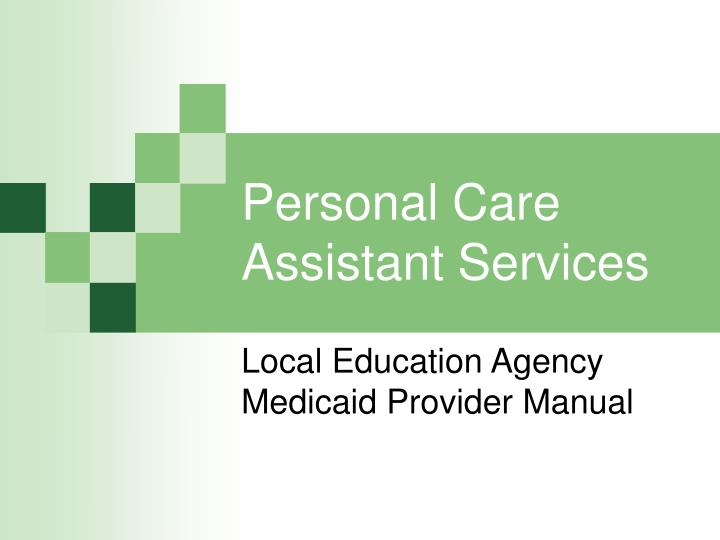 personal care assistant services n.