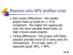 reasons why npv profiles cross