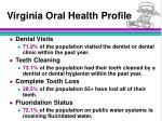 virginia oral health profile