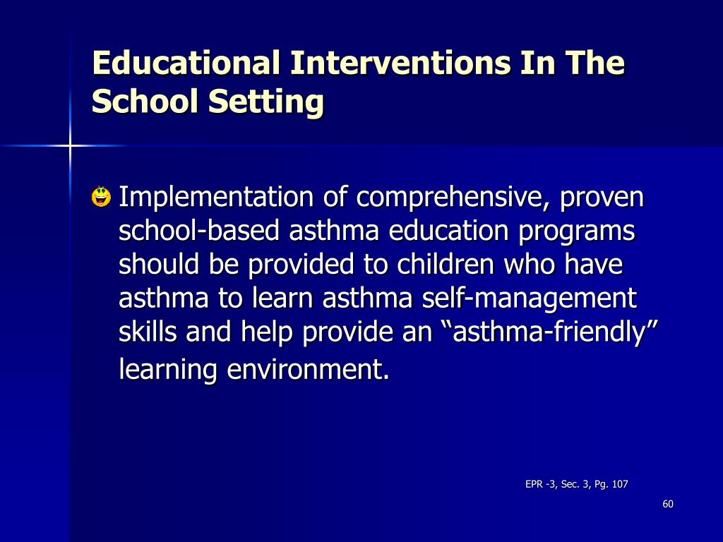 Educational Interventions In The School Setting