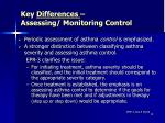 key differences assessing monitoring control