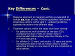 key differences cont79