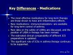 key differences medications