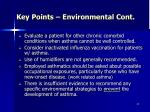 key points environmental cont