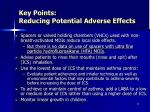 key points reducing potential adverse effects