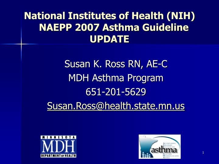 national institutes of health nih naepp 2007 asthma guideline update n.