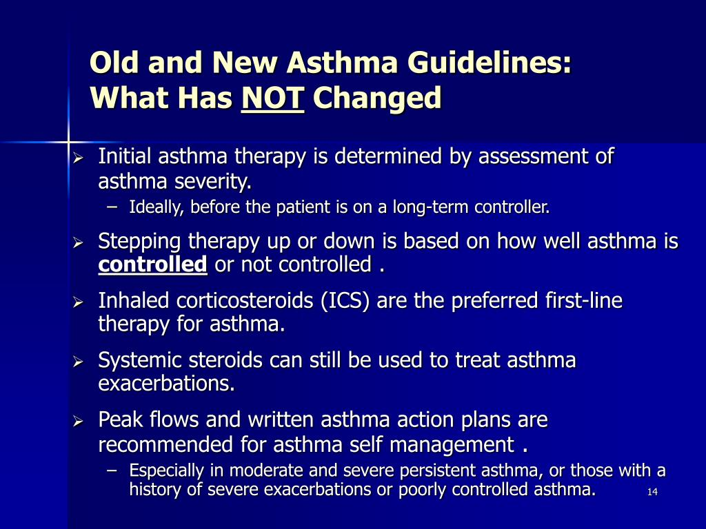 Old and New Asthma Guidelines: