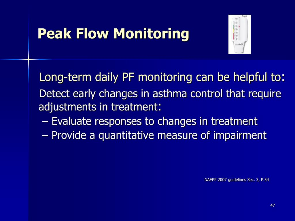 Peak Flow Monitoring